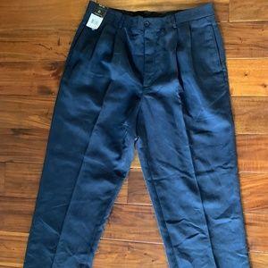Claiborne Navy Mens Wrinkle Resistant Pants 36x30